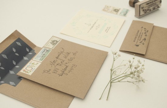 Vintage Inspired Illustrated Save the Dates by Nikki Tranchita via Oh So Beautiful Paper