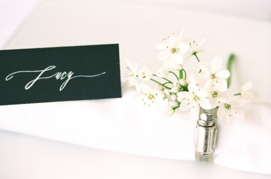 Day-Of Wedding Stationery Inspiration and Ideas: White on Black via Oh So Beautiful Paper (6)
