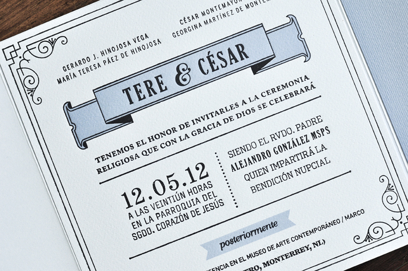 1920s Inspired Letterpress Wedding Invitations By Tere Hinojosa Creative Via Oh So Beautiful Paper 5