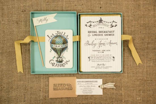 Bridal Shower Invitations by Antiquaria via Oh So Beautiful Paper (3)