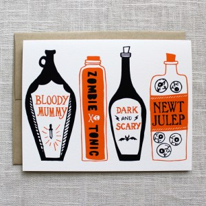 Illustrated Halloween Cards and Treat Bags by Maple and Belmont via Oh So Beautiful Paper (4)