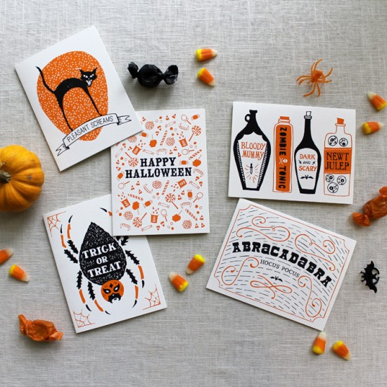 Halloween Cards Maple and Belmont 550x550 Illustrated Halloween Cards from Maple and Belmont