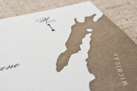 Letterpress Map Wedding Invitations by Laura Macchia and May Day Studio via Oh So Beautiful Paper (4)
