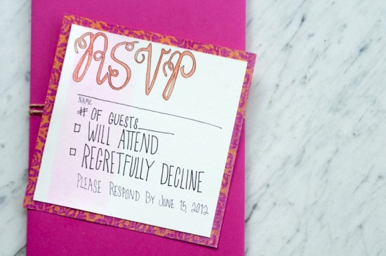 Hand Lettered Watercolor Wedding Invitations by Love Citron via Oh So Beautiful Paper (3)