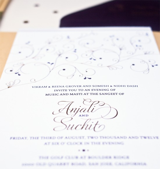 Hindu Wedding Invitations by Rashi Birla via Oh So Beautiful Paper (6)
