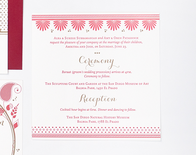 Red And Gold Wedding Invitations 030 - Red And Gold Wedding Invitations