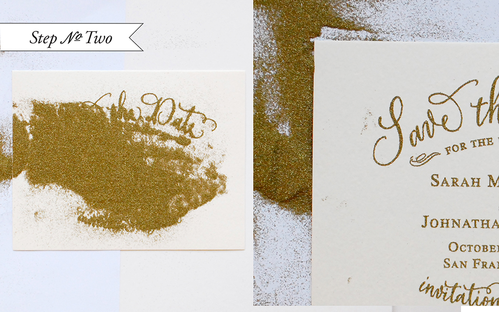 DIY Tutorial: Gold Embossed Save the Dates
