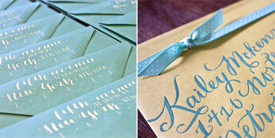 Molly Jacques Calligraphy via Oh So Beautiful Paper