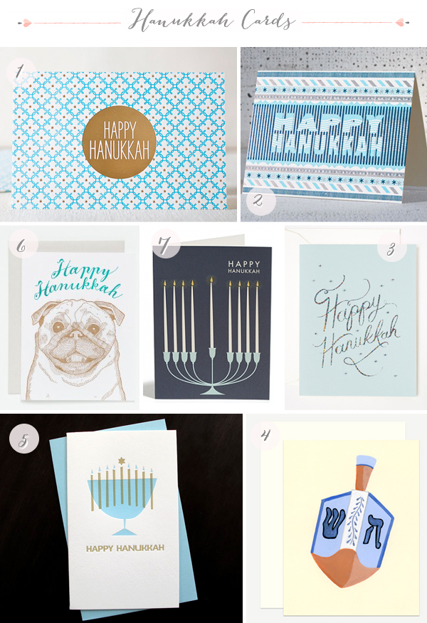 2012 Hanukkah Card Round Up via Oh So Beautiful Paper