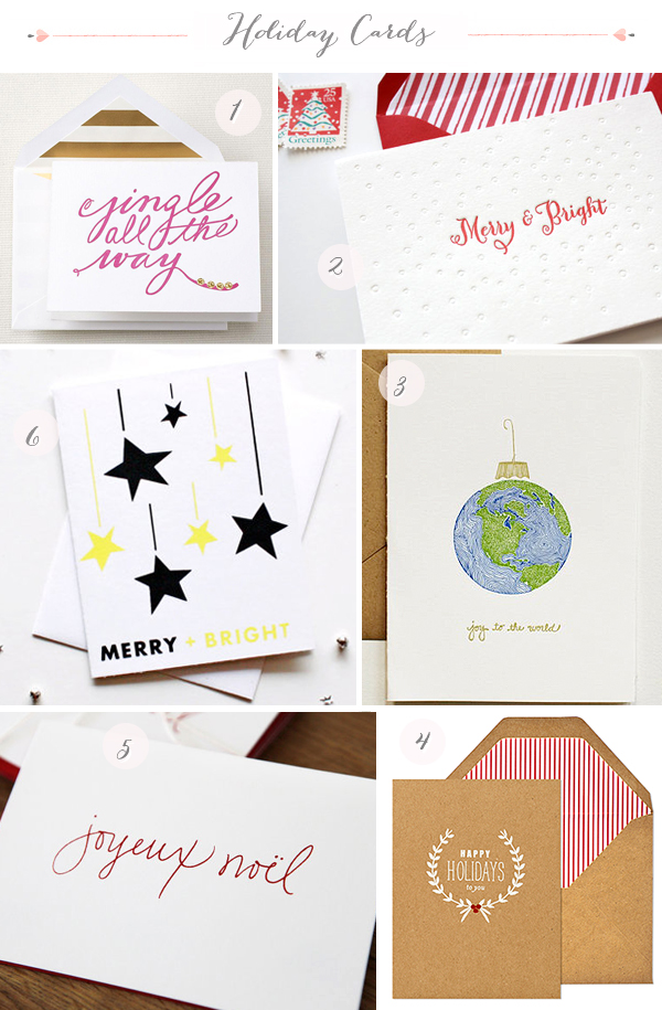 2012 Holiday Card Round Up via Oh So Beautiful Paper