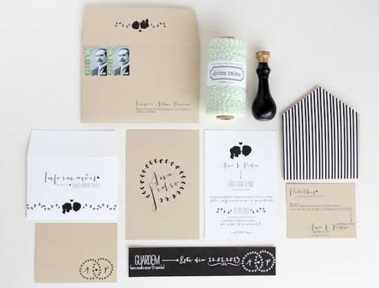 Silhouette Wedding Invitations by Branco Prata via Oh So Beautiful Paper (14)