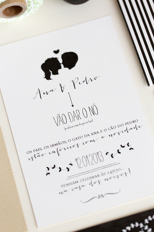 ana pedro39s modern organic wedding invitations With black and white silhouette wedding invitations