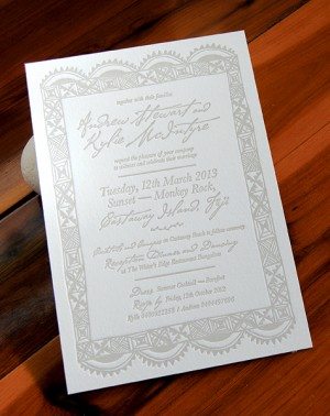 Fiji Destination Wedding Invitations via Oh So Beautiful Paper (3)