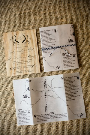 Rustic Wooden Wedding Invitations by Fourth Year Studio via Oh So Beautiful Paper (3)