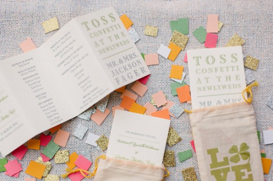 Day-Of Wedding Stationery Inspiration and Ideas: Confetti via Oh So Beautiful Paper (6)
