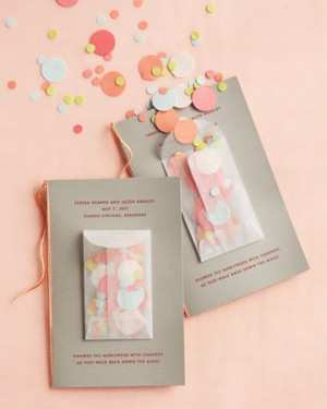 Day-Of Wedding Stationery Inspiration and Ideas: Confetti via Oh So Beautiful Paper (5)