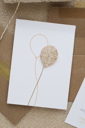 Glittery Balloon 25th Birthday Party Invitations by Anastasia Marie via Oh So Beautiful Paper (3)