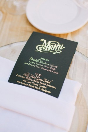 Day-Of Wedding Stationery Inspiration and Ideas: Silver and Gold via Oh So Beautiful Paper (10)