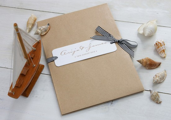 Modern Chevron Wedding Invitations by Meticulous Ink via Oh So Beautiful Paper (7)