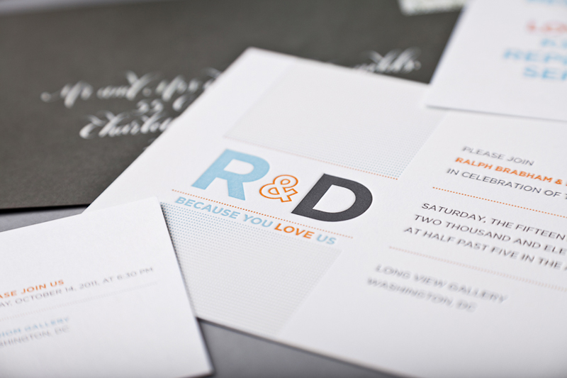 Ralph Drews Because We Love You Modern Wedding Invitations