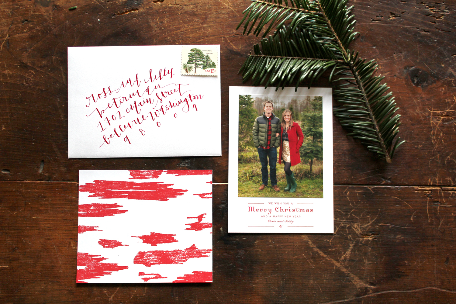 ikat custom holiday cards by la happy via oh so beautiful paper