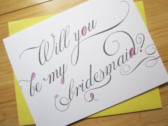 Will you be my bridesmaid 550x412 Greeting Cards A – Z: Bridesmaid and Maid of Honor Cards