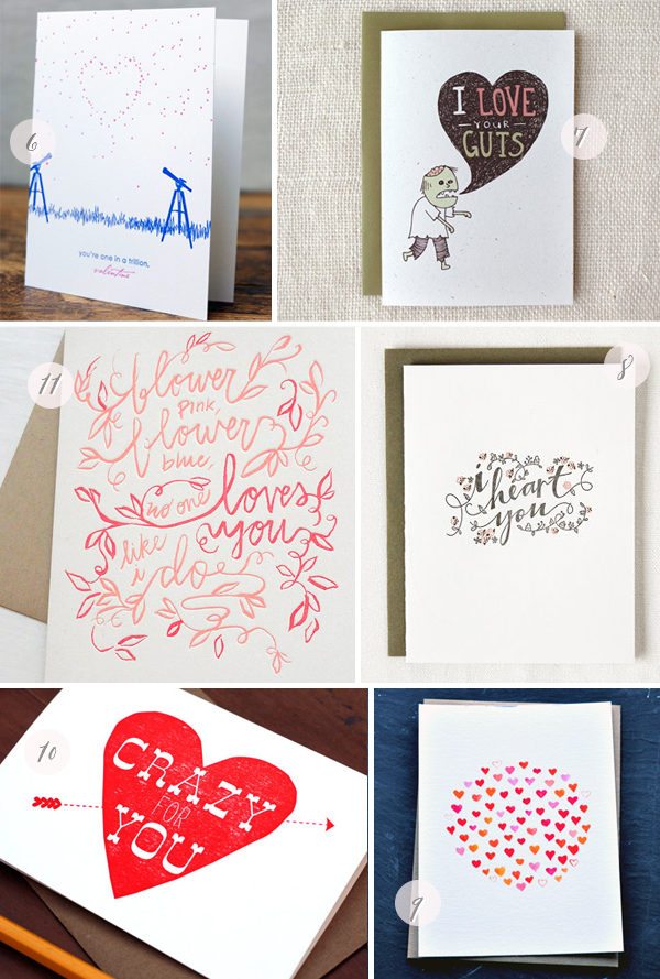 Seasonal Stationery: Valentine's Day Card Round Up via Oh So Beautiful Paper