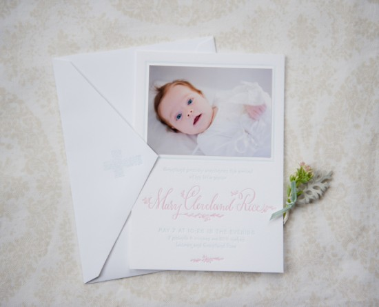 Feminine Letterpress Birth Announcements by Holly Hollon Design and Calligraphy via Oh So Beautiful Paper (3)
