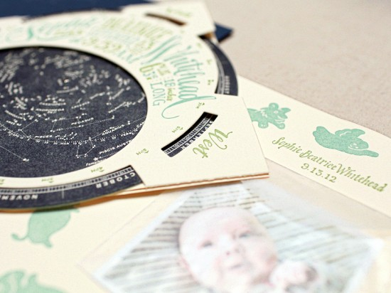 Constellation Starfinder Letterpress Birth Announcements by Ladyfingers Letterpress for Oh So Beautiful Paper (5)