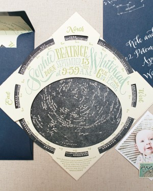Constellation Starfinder Letterpress Birth Announcements by Ladyfingers Letterpress for Oh So Beautiful Paper (28)