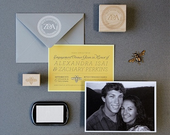 Engagement Party Invitations by Lush Events via Oh So Beautiful Paper