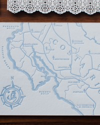 Illustrated Map Destination Wedding Invitations by Heritage+Joy via Oh So Beautiful Paper (5)