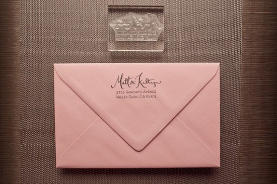 KM Calligraphy Acrylic Address Stamp2 550x366 New Giveaway! Calligraphy Address Stamp from Kathryn Murray
