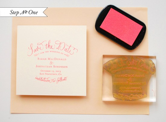 pink dot3 550x404 DIY Tutorial: Pink Polka Dot Watercolor Save the Date