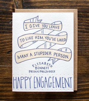 9th Letterpress Engagement Card