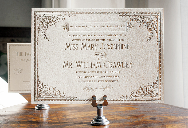 Downton AbbeyInspired Wedding Invitations