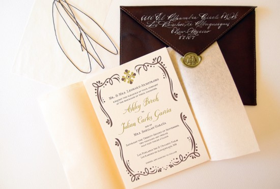 Letterpress Rustic Mexican Wedding Invitation by Lizzy B Loves via Oh So Beautiful Paper (4)