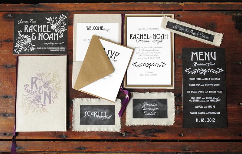 linen chalkboard wedding invitations by blue magpie 8 - Chalkboard Wedding Invitations