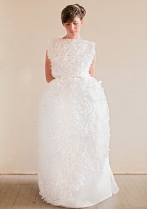 Paper Dress Inspiration by Paper Posy Designs via Oh So Beautiful Paper