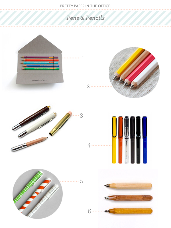 Pretty Paper in the Office Pens & Pencils round up