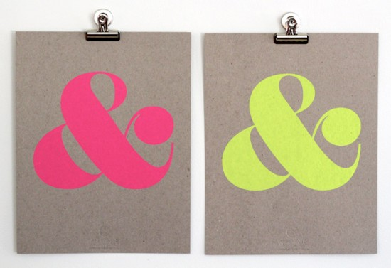 Shop Ampersand Screen Prints via Oh So Beautiful Paper (4)
