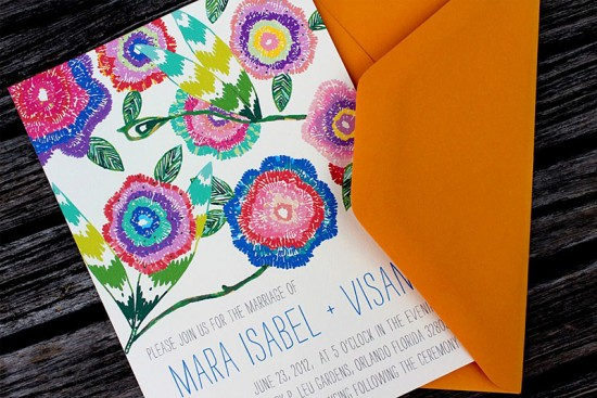 Wildflower Wedding Invitations by An Lim via Oh So Beautiful Paper (5)