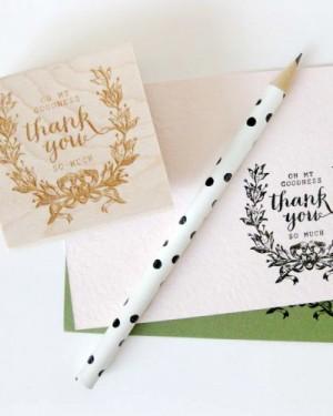 La Happy Calligraphy Paper Goods via Oh So Beautiful Paper (1)