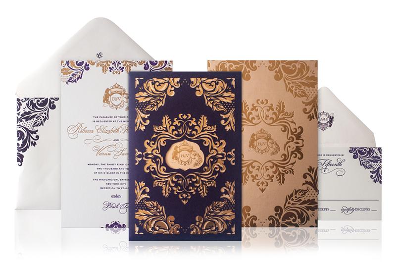 Rebecca Varuns Lasercut And Gold Foil Wedding Invitations