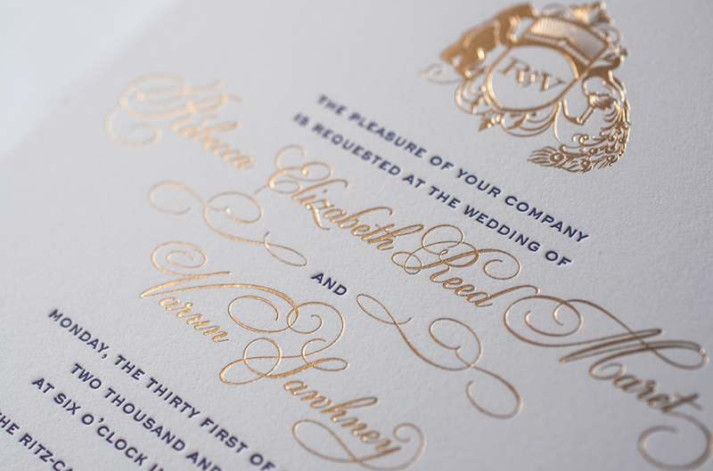 Rebecca + Varun's Lasercut and Gold Foil Wedding Invitations