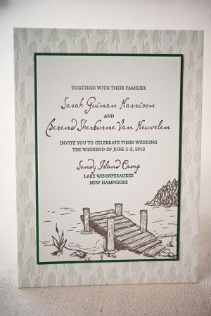 Summer Camp Wedding Invitations by Gus & Ruby Letterpress via Oh So Beautiful Paper (18)