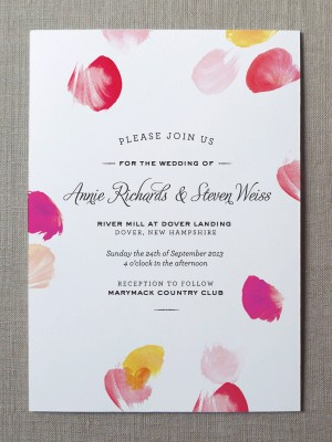 Watercolor Wedding Invitations by Fine Day Press via Oh So Beautiful Paper (1)