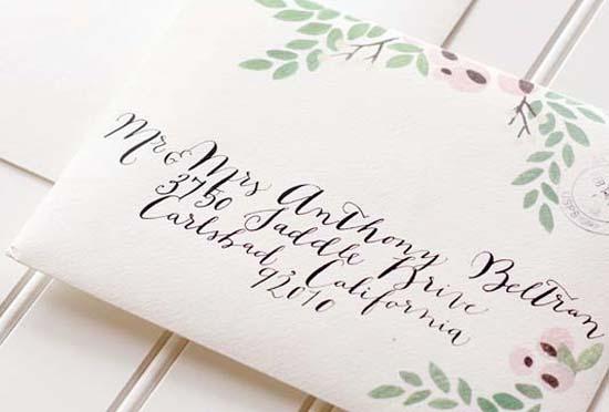 Woodgrain Floral Wedding Invitations Moira Design Studio7 Jennifer + Charless Floral and Woodgrain Wedding Invitations