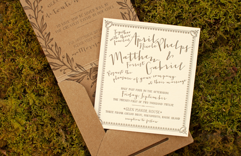 French Garden Inspired Wedding Invitations By Coral Pheasant Via Oh So Beautiful Paper 5