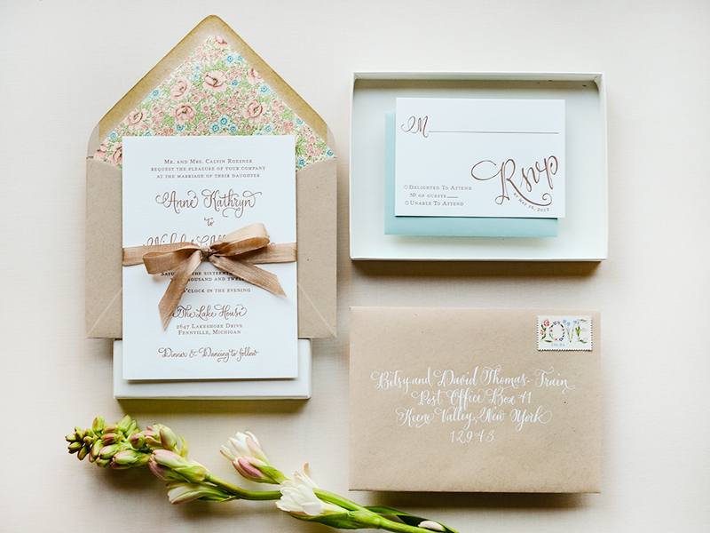 Gorgeous Wedding Invitations: Antiquaria Letterpress Wedding Invitation Collection